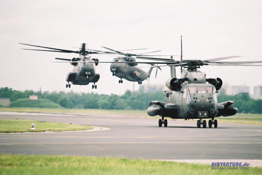 Die an mehreren tagen der ila 2006 gezeigte luftlandedemonstration der